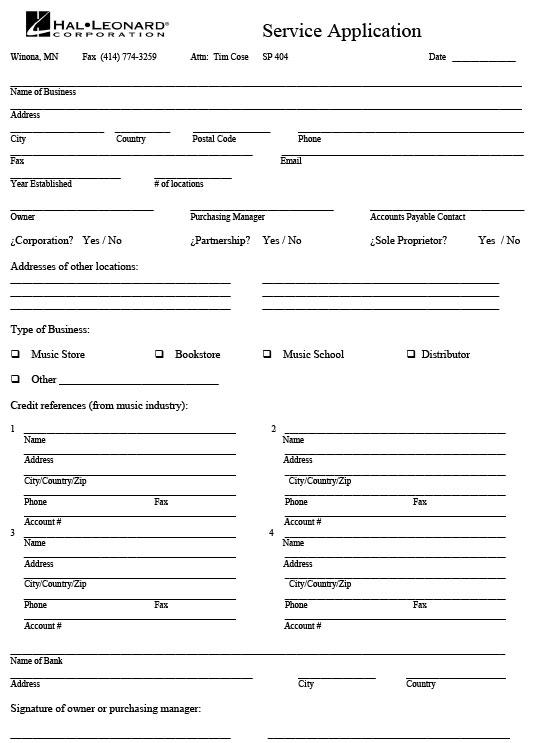 Service Application (PDF)
